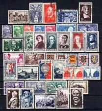 France année complète 1951 Yvert n° 878 à 918 oblitérés 1er choix