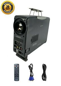 Sony CPJ-D500 LCD Projector Portable 800x600 w/Accessories bundle