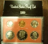 1980-S United States Mint Proof (6) Coin Set w/ Box Very Nice with Original Box