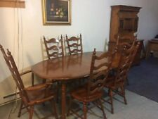 Tell City Young Republic Solid hard rock maple complete dining set.