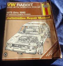 RP2510 Haynes VW Rabbit Golf Jetta Scirocco Pick-up Gas 1975-1992 Repair Manual