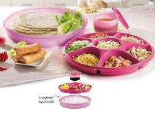 Tupperware Serving Center, Party, Game Day, Taco Night, Veggies, Fruit Bowl Pink