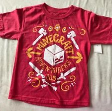 boys NEW NWT red MINE CRAFT TEE SHIRT TOP size 4/5 ADVENTURERS CLUB short sleeve