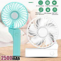 Mini Fan Portable Hand-held Desk Cooler Cooling USB Rechargeable Air  y