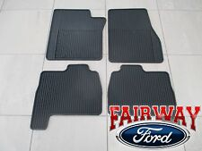 11 thru 14 Expedition OEM Genuine Ford Rubber All Weather Floor Mat Set 4-pc NEW