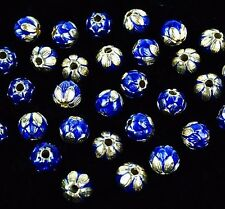 5 pcs 9mm Vintage Cloisonne Metal Handmade Loose Bead 9mm DK03B002
