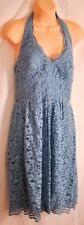 women's French blue lace halter David's Bridal bridesmaid dress size 8 dressy