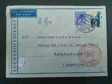 Nederland 185, 237 op brief Den Haag-Buenos Aires 134 mit Deutsche Luftpost