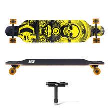 "Drop-Through Deck Skateboard Complete Longboard - PHAT™ - 41"" Skull"