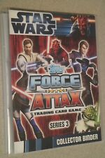 Star Wars Force Attax series 3 (animated) complete set 240 cards in album Topps