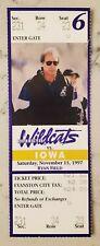 Northwestern vs Iowa Hawkeyes Football Full Ticket 11/15 1997 Tavian Banks Stub