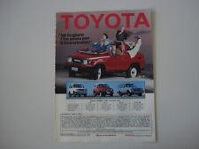 advertising Pubblicità 1987 TOYOTA BJ73 BJ 73