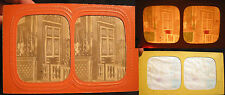 CIRCA 1880 COLOR SEE THROUGH STEREOVIEW ARCHITECTURAL INTERIOR PHOTO VERSAILLES