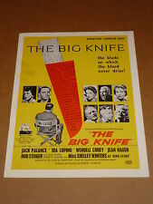 """The Big Knife"" (Jack Palance/Ida Lupino) 1955 Film Noir UK Campaign Book"