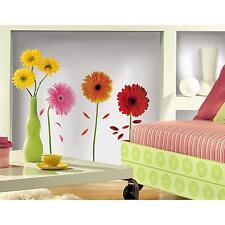 GERBER DAISIES wall stickers 48 decals DAISY falling petal scrapbook flowers