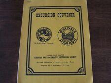 Excursion Souvenir Railway Locomotive Historical Society BC Yukon Alaska 1966