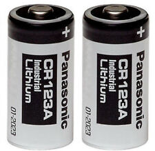 2 Panasonic CR123A 123A 123 Industrial Lithium Batteries