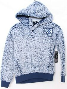 NEW West Virginia Mountaineers Colosseum Toto Henley Hoodie Shirt Girls M 7-8