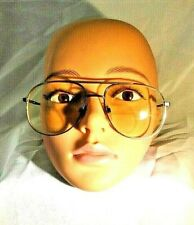 Vintage Marchon Dwight Natural Metal Aviator Unisex Eyeglass Sunglasses Frames