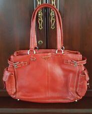 PRADA Handbag Red Vitello Daino Leather Bag
