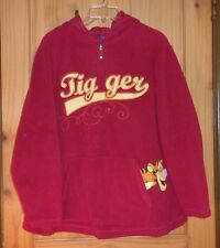 Disney Red Fleece 1/4 Zip Tigger Hoodie, Womens 1X