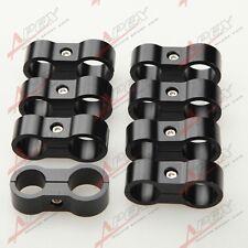 8PCS 6AN AN-6 14.6mm to 8AN AN-8 17mm Stepped Billet Dual Hose Separator