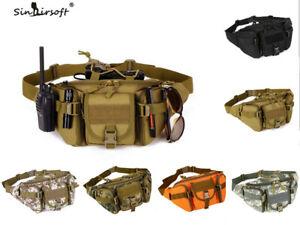 Men Tactical Nylon Fanny Pack Waist Bag Military Molle Travel Hip Belt Bum Pouch