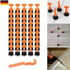 50x Set Nivelliersystem Verlegehilfe Verlegesystem Fliesen Verlegen mit Werkzeug