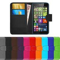 Premium Luxury Leather Flip Wallet Book Case Cover For Nokia Microsoft Lumia 535