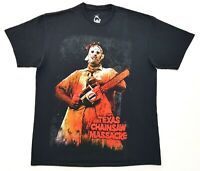 The Texas Chainsaw Massacre Leatherface Tee Black Size L Mens T Shirt