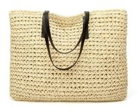Women Straw Rattan Bag Woven Handbags Shoulder Knitted Purse Beach Storage Bag