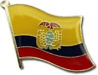 Ecuador Country Flag Bike Motorcycle Hat Cap lapel Pin