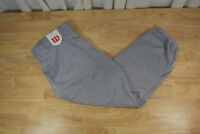 Youth WILSON Relaxed Fit Gray Baseball Pants Size L Softball Athletic RN #120890