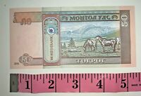 MONGOLIA 50 Tugrik Banknote World Paper Money UNC Currency Horses Bill