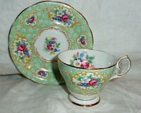 BELL CHINA CUP & SAUCER GAINSBOROUGH ENGLAND FINE BONE FLORAL