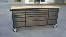 "THOR BLACK EDITION 72"" Stainless Steel Tool Box Chest, Absolutely stunning!!!"
