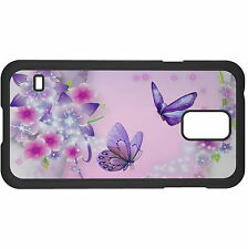 Purple Butterflies And Blossoms Hard Case Cover For Samsung New