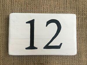 Personalised Painted Wooden Sign House Number Garden Outdoor Door Name Plaque  ⭐