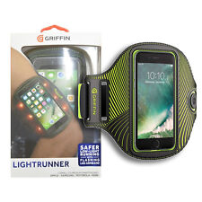 "Griffin LED Light Runner Arm Band Fits Smartphones up to 5.5"" iPhone - Black"