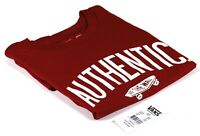 Vans Off The Wall Crew Neck Red Tee Authentic Skateboard Logo T-Shirt Top