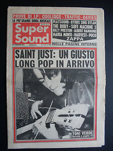 SUPER SOUND 9/1973 SAINT JUST TONI VERDE ZAPPA TRAFFIC POCO MARIA MONTI SOFT MAC