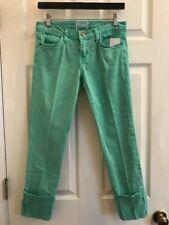 CURRENT ELLIOT Faded Alpine Mint Green Skinny Jean Sz 27 ORIG $200