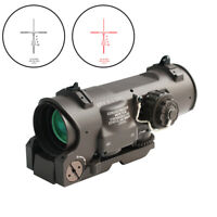 Tactical Rifle Scope 1x-4x /4x Fixed Dual Purpose Red illuminated Red Dot Sight