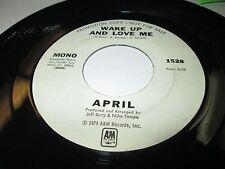 "APRIL STEVENS Wake Up & Love Me 45 7"" NM US PROMO FUNKY POP 1974 VINYL LISTEN"