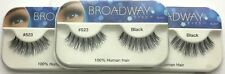 NEW LOT OF 3 BROADWAY EYES BLA21 100% HUMAN HAIR BLACK STRIP #523 EYELASHES