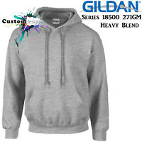 Gildan Sport Grey Hoodie Heavy Blend Basic Hooded Sweat Sweater Mens S-XXL