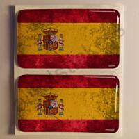Pegatinas España Pegatina Bandera Manchada Vieja Adhesivo 3D Relieve Resina