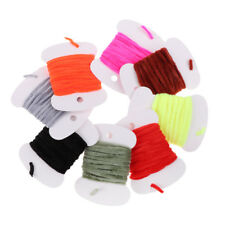 8Pcs Fly Tying Materials Assorted Rayon Chenille Yarn for Fly/ Tying Flies