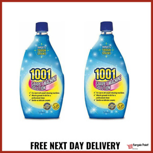 2x 1001 Carpet Machine Shampoo 500ml 3in1 Professional Clean -FAST FREE DELIVERY