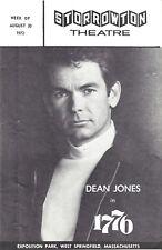 "Dean Jones ""1776"" William Le Massena / Peter Stone 1972 West Springfield Program"